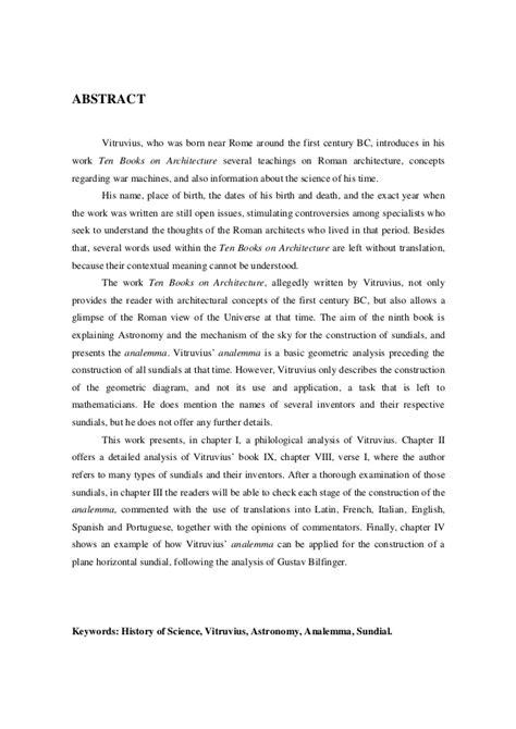 Analema de Vitruvius dos relógios solares até o relógio de