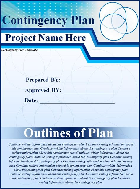 contingency plan template for a small business contingency plan template free printable word templates
