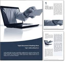 business template word royalty free business microsoft word template in blue