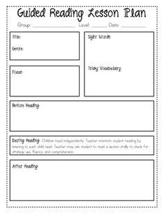guided reading lesson plan template fountas and pinnell free second grade reading passages with comprehension