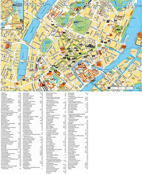 map of tourist attractions copenhagen tourist attractions map