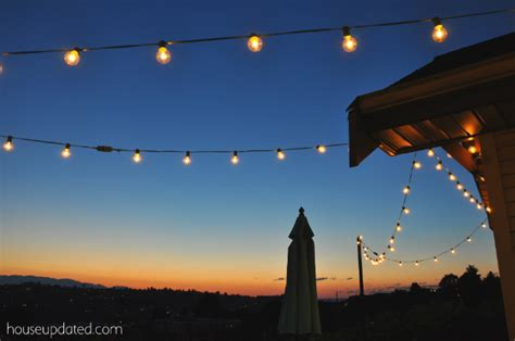 Hanging Patio String Lights Poles For Hanging String Lights Pictures