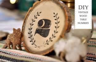 diy vintage wood table numbers green wedding shoes