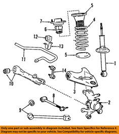 lexus toyota oem 98 05 gs300 rear suspension strut