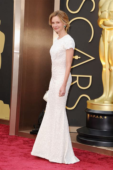 Oscars Carpet Calista Flockhart by Calista Flockhart At The 2014 Oscars Who Wore What See