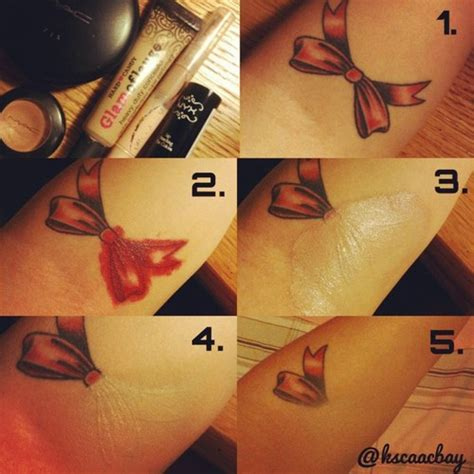 how to cover a tattoo with makeup how to perfectly cover a alldaychic
