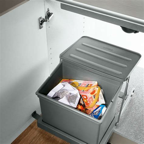 kitchen cabinet waste bins oppein waste bins in sink cabinet trash can for kitchen op