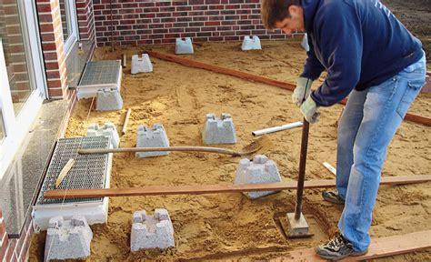 fundamentsteine terrasse fundamente selbst de - Terrasse Fundament