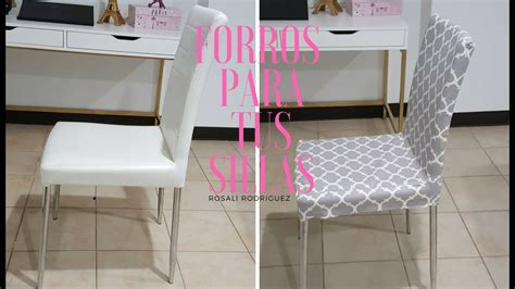 forros  sillas chair cover youtube