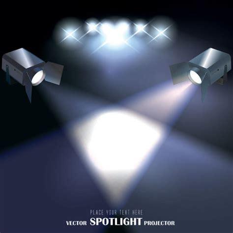 spotlight irradiate effect background vector 04 over