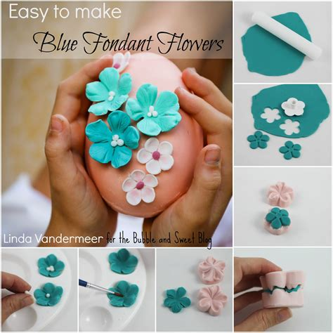 easy to make and sweet easy to make blue fondant flowers
