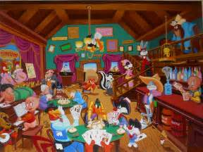 Galaxy Wall Murals looney tunes saloon wallpaper and background 1600x1200