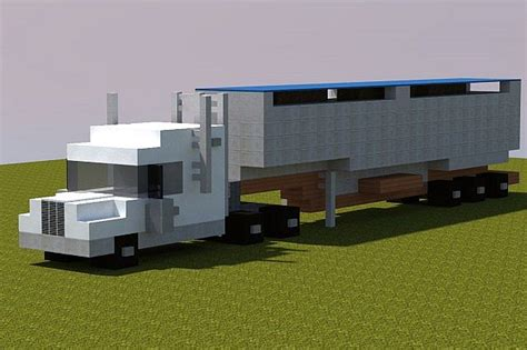 minecraft truck semi truck realistic minecraft project