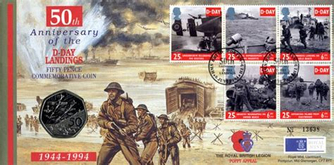 ta boat show military discount d day 50th anniversary coin cover first day cover bfdc
