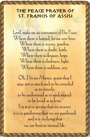 st francis peace prayer talesalongtheway
