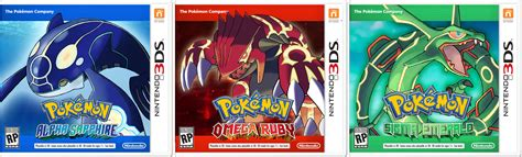 omega ruby pokemon emerald starters final form games info