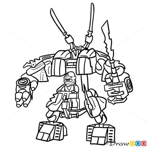 ninjago mech coloring pages learn how to draw kozu from ninjago ninjago step by step