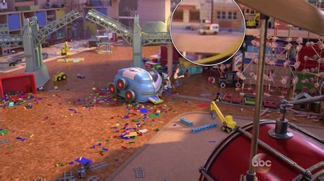 Buzz Lightyear Bedroom toy story that time forgot easter eggs include pizza