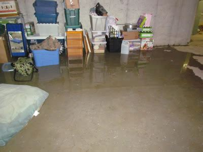 blessings of a stay at home basement flooding and