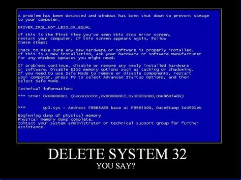 System 32 Meme - delete system32