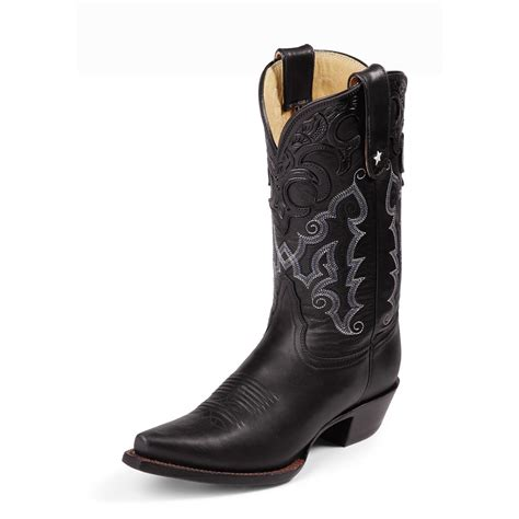 s tony lama 174 11 quot thoroughbred boots black 173152