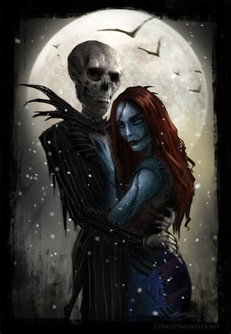 jack and sally nightmare before christmas photo