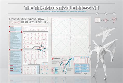 How To Make A Paper Transformer - an origami transformers ad you can fold into a plane and