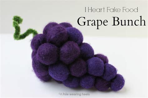 Felt Grapes Pattern | while wearing heels i heart fake food felt grape tutorial