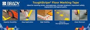 brady floor marking roll 2in w 100 ft l 11z096