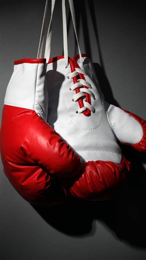 wallpaper boxing gloves red white boxing sport