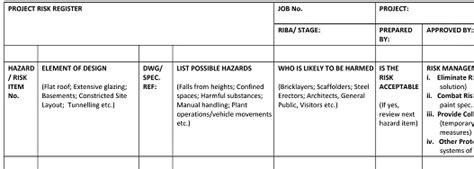 cdm design risk assessment template useful cdm documents jra cdm