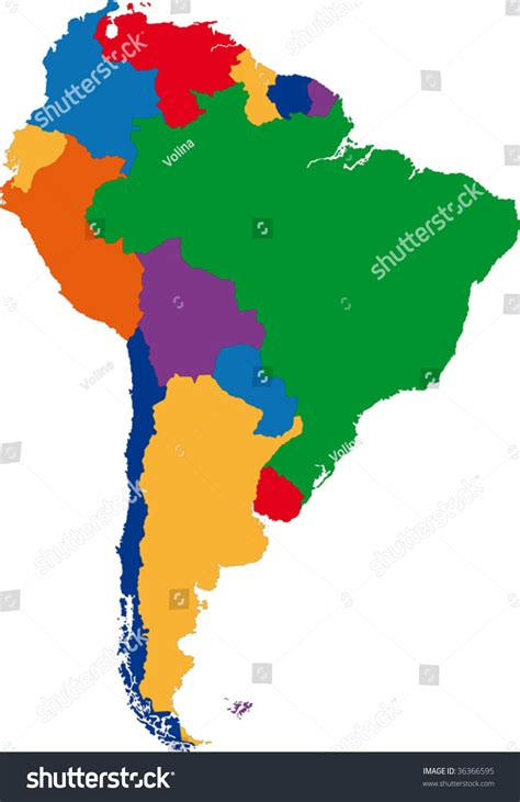 south america map borders pics for gt south america blank colorful map