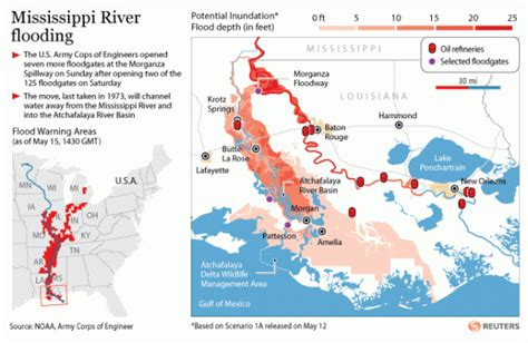 louisiana flood maps new maps of mississippi river atchafalaya river estimated