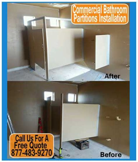 commercial bathroom partitions installation