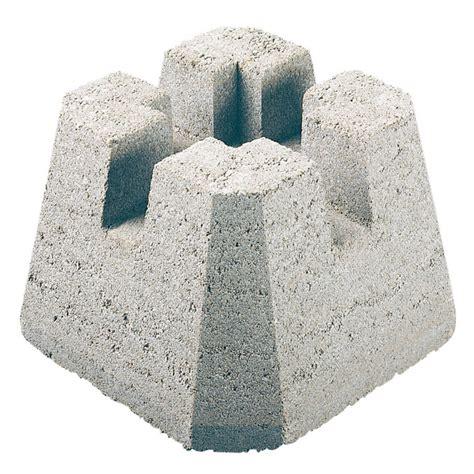 concrete base floor l quot dek block quot concrete deck base rona