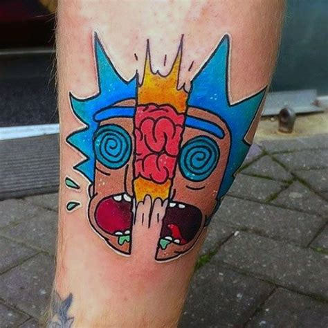crazy rick  morty tattoo ideas golfiancom