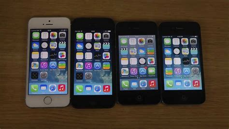 Iphone 4 4s 5 5s iphone 5s vs 5 vs 4s vs 4 ios 7 1 which apple