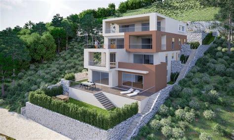 near primosten dalmatia new modern seafront apartments