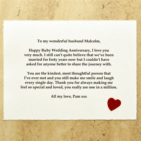 Wedding Anniversary Gift Message by 40th Ruby Wedding Anniversary Gift By Arnott Cards