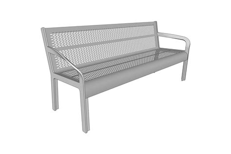 steel bench ratio bench outdoor forms surfaces