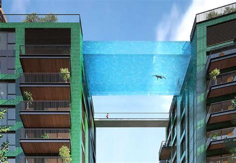 glass bottom pool damn rich people london luxury apartment complex getting