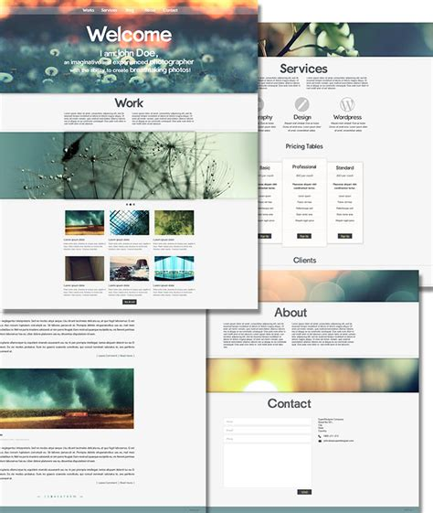 psd templates for photographers photographica free psd website template for photographers