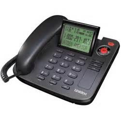 home phones at walmart uniden 1360bk desktop corded phones with caller id black