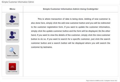 tutorial javascript codeigniter simple hotel customer information admin using codeigniter