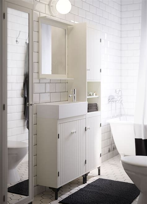 Pinterest Bathroom Mirror Ideas by Silveran Mobile Bianco Per Lavabo Bagno Ikea