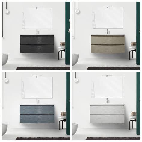 mobile bagno 100 cm mobile bagno curvet 80 o 100 cm 2 cassetti lavabo in