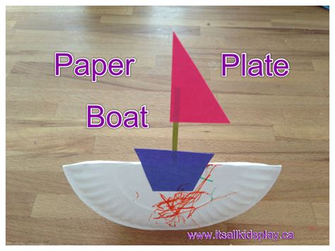 boat craft paper plate boat craft it s all kid s play