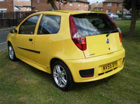 yellow fiat punto 2005 55 plate fiat punto active sport 8v yellow car for sale