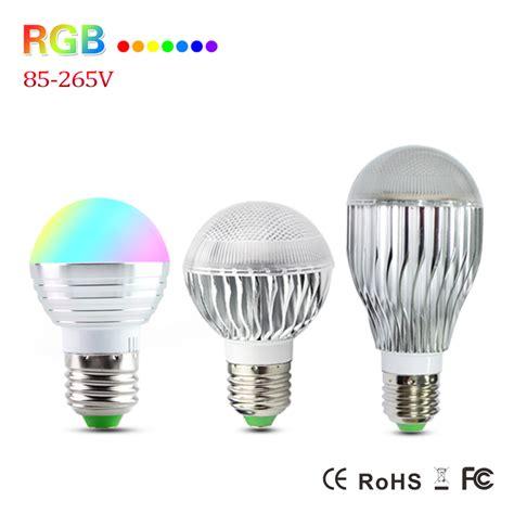 Cree Led Light Bulbs E27 Rgb 3w 5w 10w Cree Led Spot Light Ac110v 127v 220v Light Bulb Halogen L Color