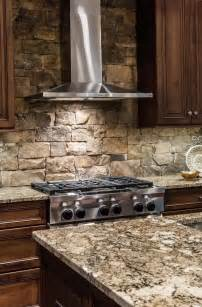 Stone Kitchen Backsplash Stacked Stone Backsplash Tile Home Design Ideas